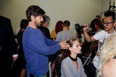 Beautiful hair at Victoria beckham #SS14, thank u Guido Palau BaByliss UK x vb
