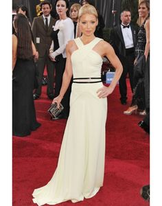 Belt A-line Light Yellow Kelly Ripa Celebrity Dress