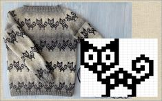 Knitting Charts, Knitting Patterns, Crochet Patterns, Knitted Tea Cosies, Cross Stitch Animals, Cat Crafts, C2c, Mittens, Ravelry