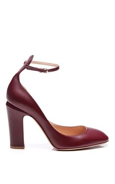 Shop Tango Leather Mary-Jane Pumps by Valentino Now Available on Moda Operandi