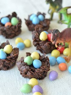Chocolate Dinosaur Nests