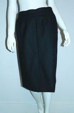 #investinvintage #vintage #1980s skirt #YSL black wool Yves Saint Laurent #midi skirt – Retro Trend Vintage