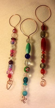 Bubble Wand Of Copper And Colorful Glass Beads by ScovilDesigns, $11.00