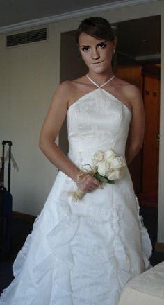 Robe de mariée Pronuptia tissu dentelle et voilage
