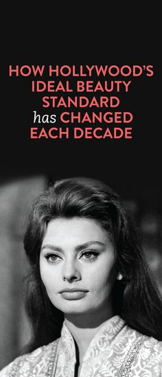 Different hollywood beauty standards over the years and how they've changed #celebrities
