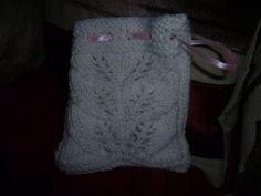 small lace knit bag