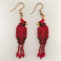 Seed Bead Earrings - Page 3 - Handmade by Joni Stinson. Beaded Earrings Patterns, Seed Bead Patterns, Beaded Jewelry Designs, Seed Bead Jewelry, Seed Bead Earrings, Jewelry Patterns, Beading Patterns, Native American Beadwork, Earring Tutorial