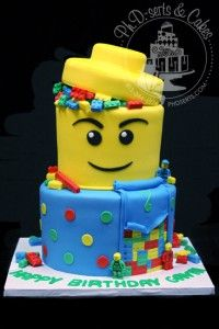 Lego birthday cake with edible Legos!