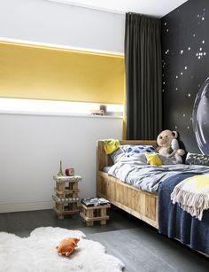 #rullegardin #barnerom #gulterkult #childrensroom #rollerblind Stores, Decoration, Wands, Toddler Bed, Bedroom, Inspiration, Furniture, Design, Home Decor