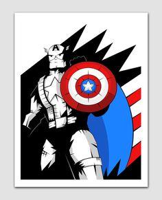 Captain America Comic Art Print