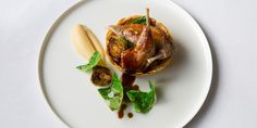 Paul Welburn's partridge recipe is a beautifully festive recipe for those after something a little more refined for Christmas dinner this year. Still packed with festive cheer thanks to the charred sprouts and chestnuts, the chef serves sous vide partridge breast and leg atop a parsnip purée tart.