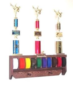 Wooden Martial Arts Belt Holder $49