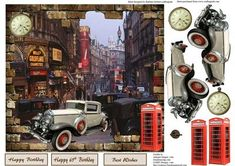 London 1949 Topper with Decoupage on Craftsuprint - Add To Basket!