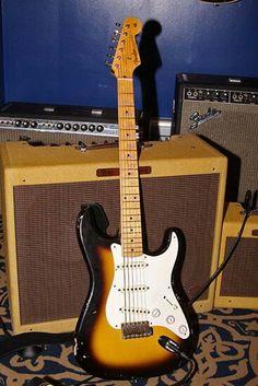 "Fender Stratocaster Eric Clapton ""Brownie"" model."