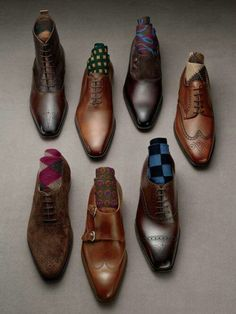 Shoes, top left, not so much the wingtips.