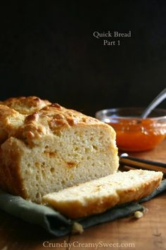 Apricot Preserves Swirl Quick Bread - Quick Bread Part 1 {high top, large loaf}  by CrunchyCreamySweet.com