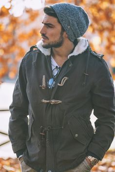Casual men style parka - outfit for man ! Winter by nohowstyle.com