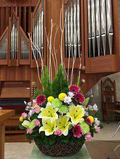 2016.12.04 主日插花 01 Flower arrangements for the church 教会のフラワーアレンジメント