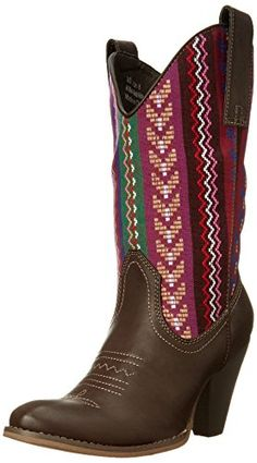 b86361c59ba276 Spite Womens Silverwood Western BootBrownMulti8 B US    You can find more  details by visiting the image link.(This is an Amazon affiliate link)