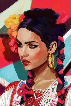 Mexican Artwork, Mexican Paintings, Mexican Folk Art, Art Pop, Canvas Artwork, Canvas Art Prints, Illustrations, Illustration Art, Hispanic Art