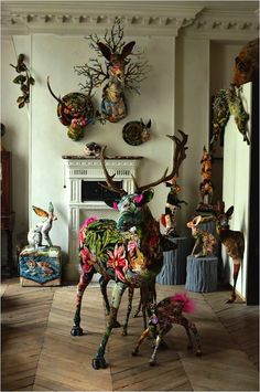 Frederique Morrel Tapestry Taxidermy
