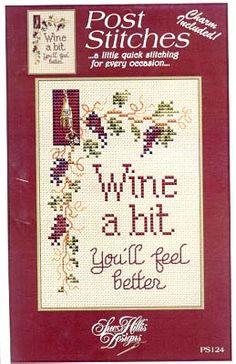 Wine a Bit - Cross Stitch Pattern