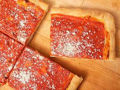 Have you tried this before?  Philadelphia tomato pie, looks delish and good for a vegan change up.