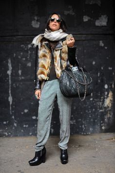 This outfit defeats the purpose of sweatpants.   Sweatpants=comfy time This outfit=Too much to work with