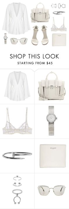 """Untitled #21247"" by florencia95 ❤ liked on Polyvore featuring Rare London, 3.1 Phillip Lim, Stuart Weitzman, La Perla, Christian Dior, Yves Saint Laurent, Maria Francesca Pepe and Miu Miu"