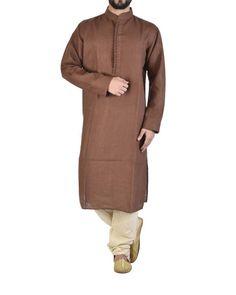 Long kurta in linen  |  Shop now: www.thesecretlabel.com