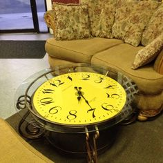 Clock coffee table House Foundation, Thrifting, Clock, Coffee, Table, Shop, Watch, Mesas, Desk