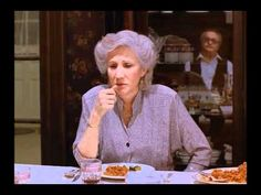 "Moonstruck video.  Rose Castorini: ""Old man, you give those dogs another piece of my food, I'm gonna' kick you 'til you're dead."""