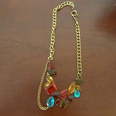 Madewell chunky multicolor gem necklace Beautiful Madewell necklace that serves as a fantastic statement item! Madewell Jewelry Necklaces