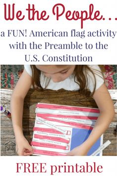 Create a Preamble Flag to learn the Preamble to the US Constitution and celebrate America& freedom and flag. Create a Preamble Flag to learn the Preamble to the US Constitution and celebrate Americas freedom and flag. Social Studies Notebook, 5th Grade Social Studies, Social Studies Activities, Teaching Social Studies, Teaching History, History Education, Teaching Career, Teaching Aids, Class Activities