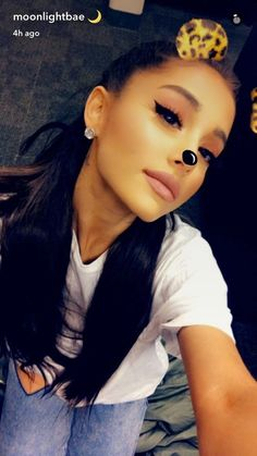 Ariana grande via snapchat: @moonlightbae