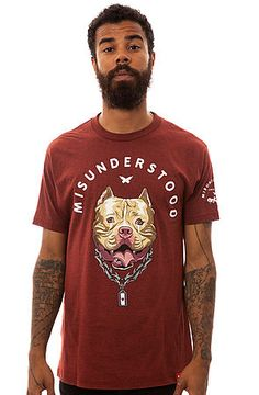 The Misunderstood Pitbull Tee in Burgundy by Entree