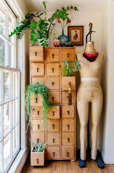 » DIY INSPIRATION | File Cabinet Succulent Storage