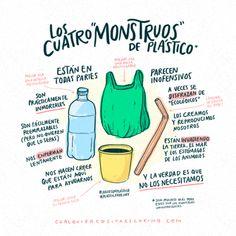 Monstruos del plástico. Por Cualquier cosita es cariño