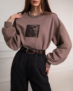 #sweatshirt #jumper #oversizesweater #oversizedsweatshirt #cozyimage #winterstyle #style2021 #beigesweater #lookforeveryday #highcollar #streetstyle #designerclothers #disignersweater #fashion #vintage #fashionphotography #fashionlook #fashionset #outfit2021 #lichibrand Aesthetic Fashion, Aesthetic Clothes, Aesthetic Style, Online Fashion Stores, Teen Fashion Outfits, Looks Style, Cute Casual Outfits, Look Cool, Minimalist Fashion