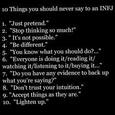 Guaranteed INFJ door slam phrases