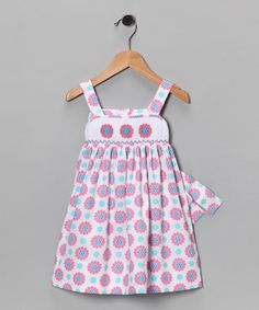 Take a look at this White & Pink Flower Dress - Girls by Candyland on #zulily today!