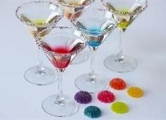 Cant get enough gumdrops? These gorgeous (and delicious!) cocktails look and taste just like the candy! Make multiple colors and flavors for your next party!