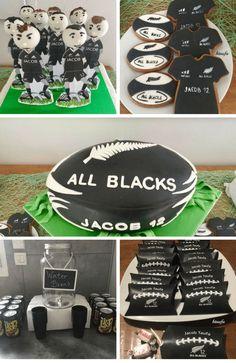 Rugby 'All Backs' birthday party Fairy Birthday Party, Birthday Party Decorations, Daddy Birthday, Garden Birthday, Party Favors, Football Locker Decorations, Rugby Cake, Football Baby Shower, Fairy Cupcakes