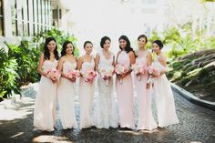 Bridesmaids in Pink | Chic Wedding in Santa Monica | Chaz Cruz Photography | Bridal Musings Wedding Blog 21