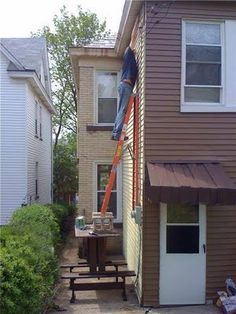 I'm not sure I could even get up on this ladder.