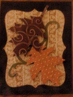 Tim Holtz leaf die card by inkyfingersrsexy - Cards and Paper Crafts at Splitcoaststampers