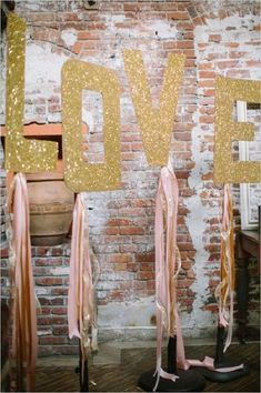 If there is one thing I always wanted in a wedding, it would be the pink and gold color scheme. Pink and gold wedding colors make for a glamorous and romantic Gold Wedding Colors, Pink And Gold Wedding, Blush And Gold, Rose Gold, Glitter Party, Gold Party, Gold Glitter, Glitter Letters, Pink Wedding Receptions