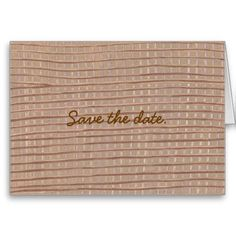 Brown Tan Burlap Design Save the date Cards. This Save the date design is great for rustic weddings and/or events. They're easy to personalize.