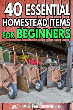 40 Essential Homestead Items for Beginners – Homestead Survival Site - Modern Homestead Survival, Wilderness Survival, Survival Tips, Survival Skills, Survival Quotes, Farm Tools, Urban Homesteading, Off The Grid, Small Farm