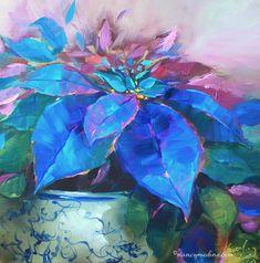 painted-ladies-blue-poinsettias-nancy-medina.jpg (889×900)